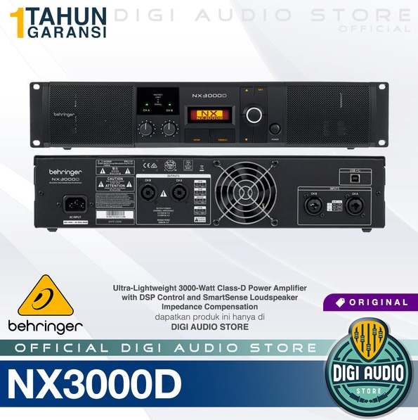 Gambar Power Amplifier 3000 Watt Behringer NX3000D
