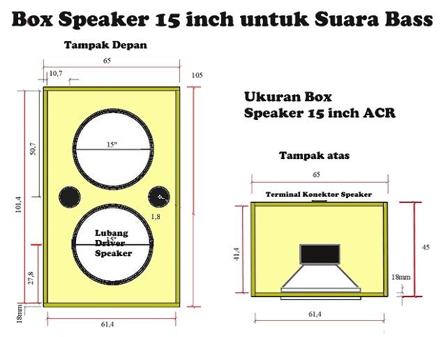 Gambar Skema Box Speaker 15 Inch Suara Mantap