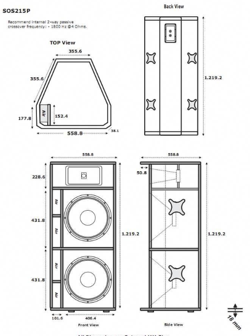 Gambar Skema Box Speaker 18 Inch