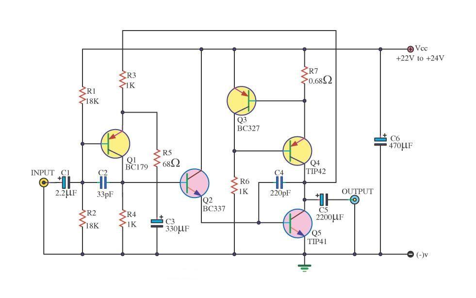 Gambar Skema Power Amplifier Class B