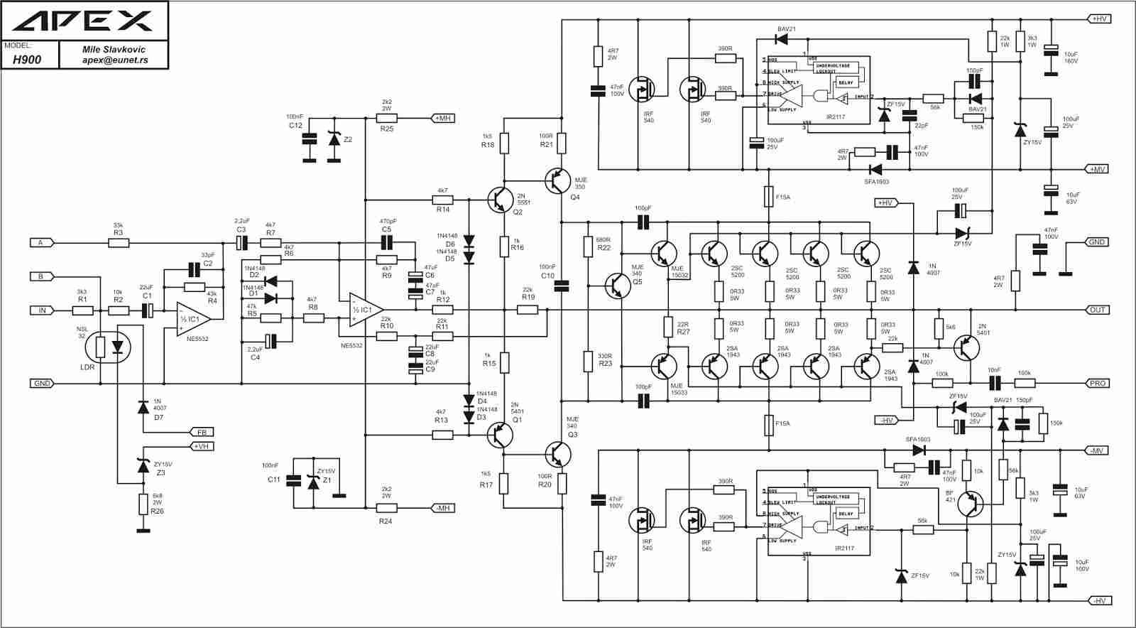 Gambar Skema Power Amplifier Class H