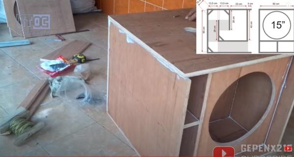 Gambar Finsihing Membuat Box Speaker dengan Benar